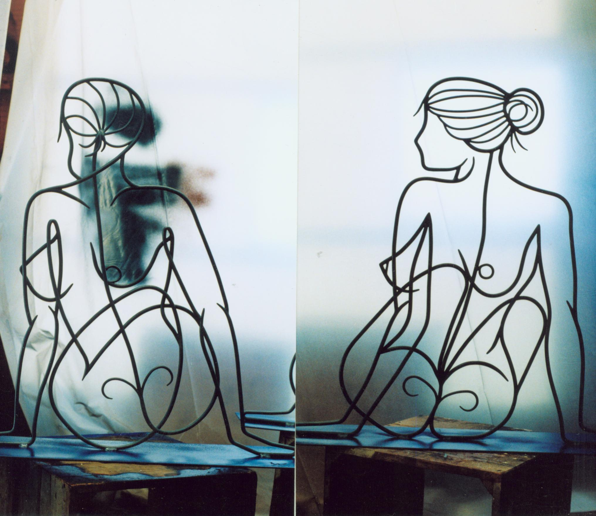 Nicole-2 backviews, paint booth