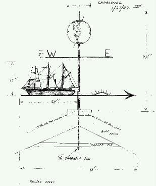 """""""The Endeavor"""" weathervane"""