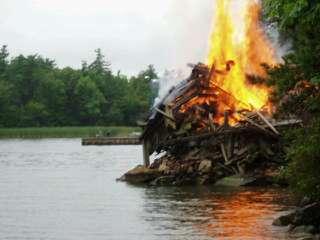 Dock bonfire