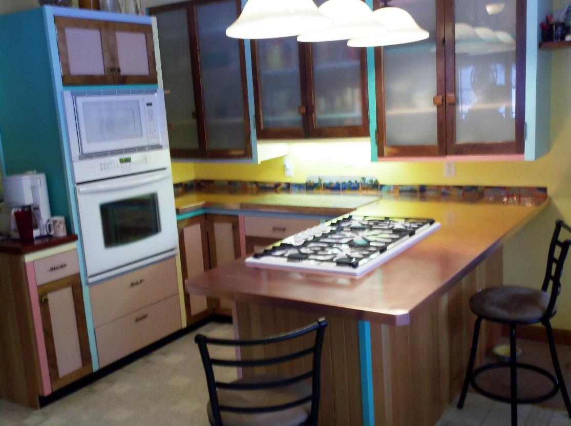 Omar kitchen, copper counters