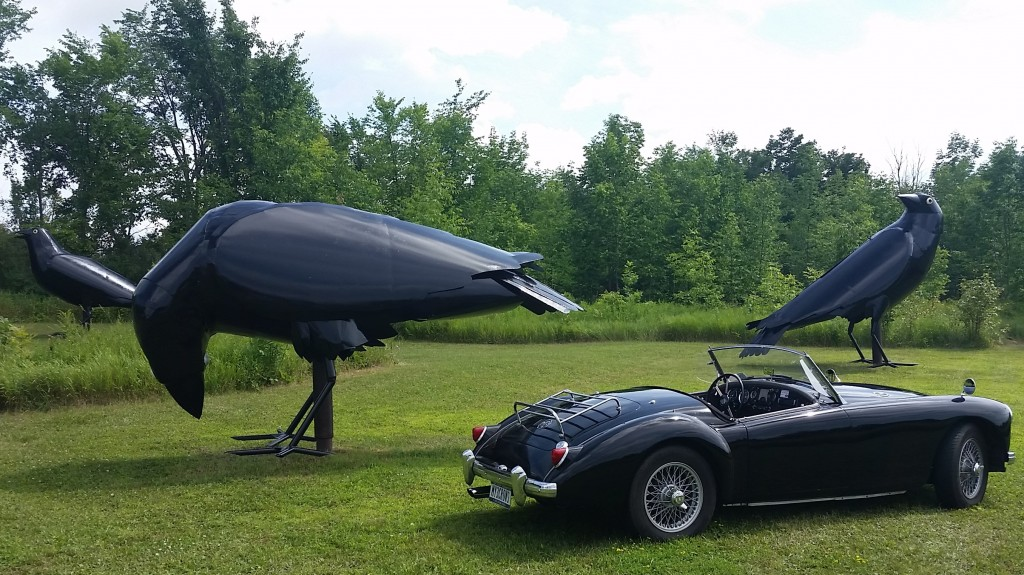 """TheThree Crows"" and my 1959 MGA"