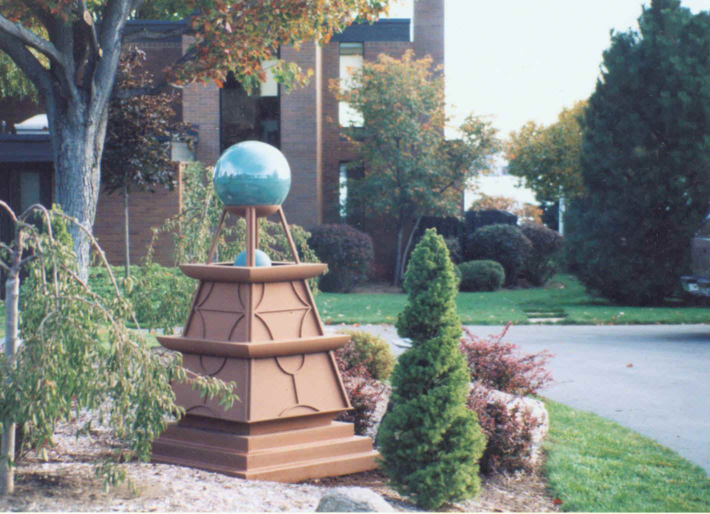 Steel Bell Tower, with ceramic ball
