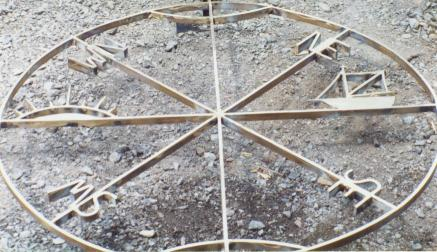 Compass, Brass for patio