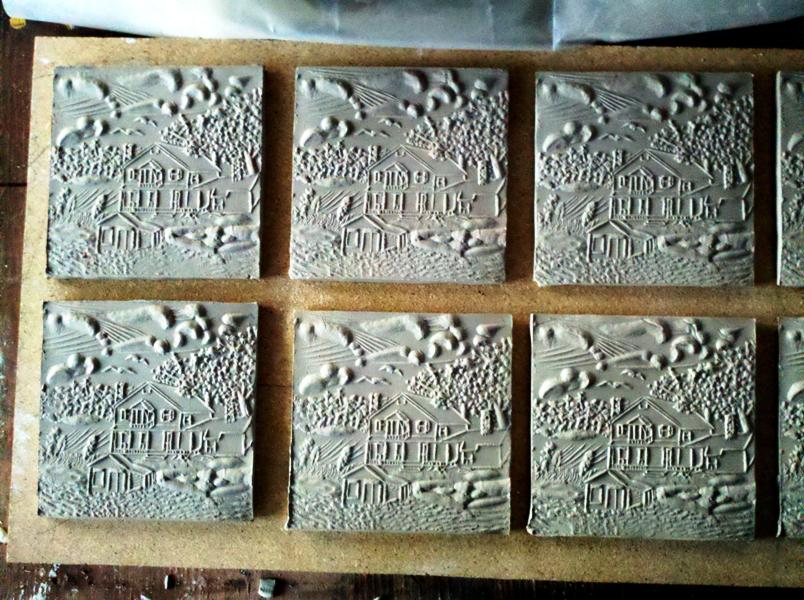 Grenell Tiles unfired