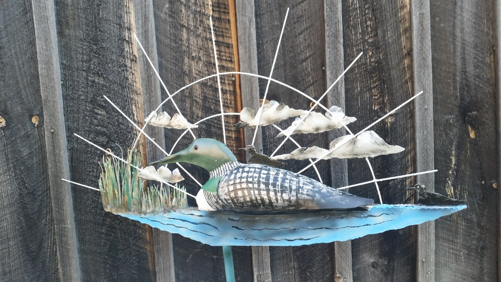 Loon Weathervane Finished