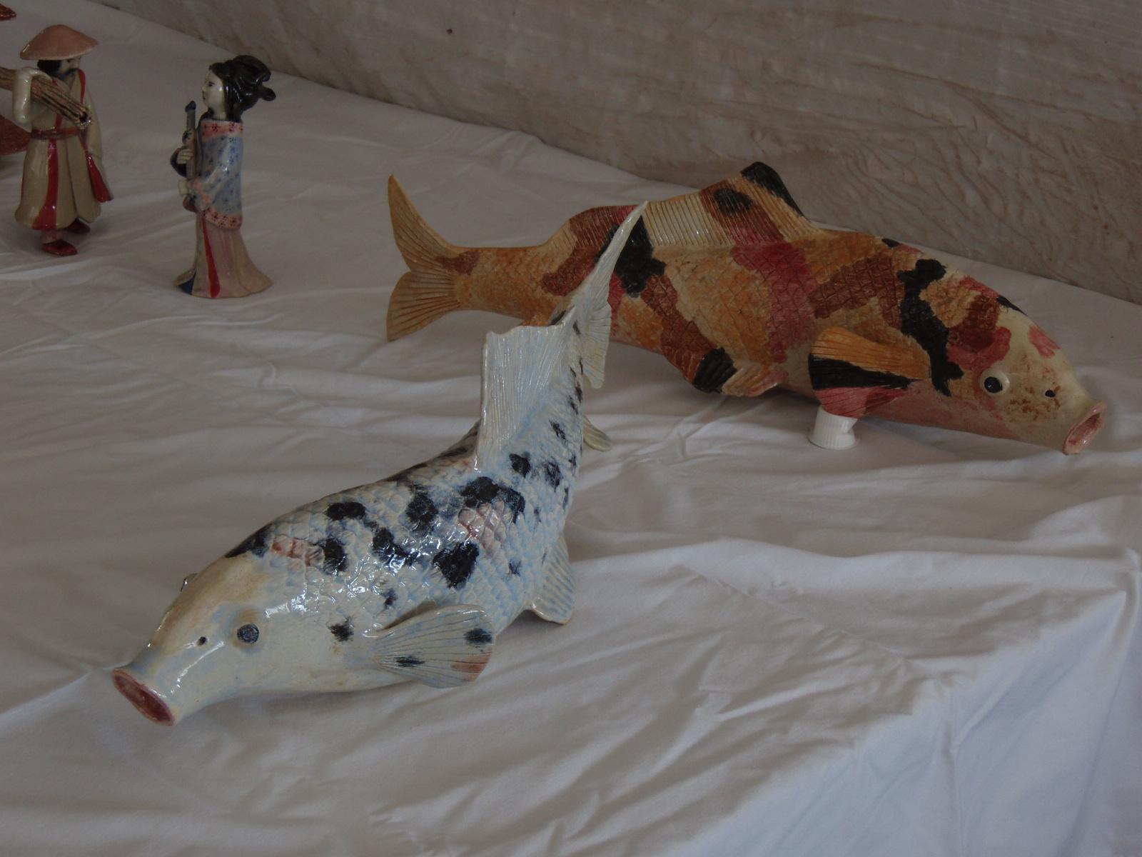 Lovers Ceramic Koi Fish