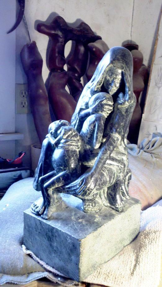 The Mothers Children. Finished, Soapstone