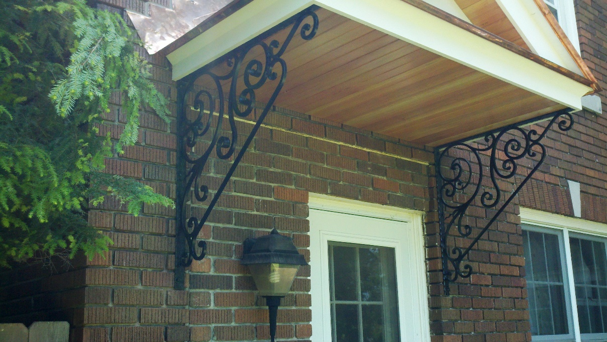 Baird's copper roof and supports