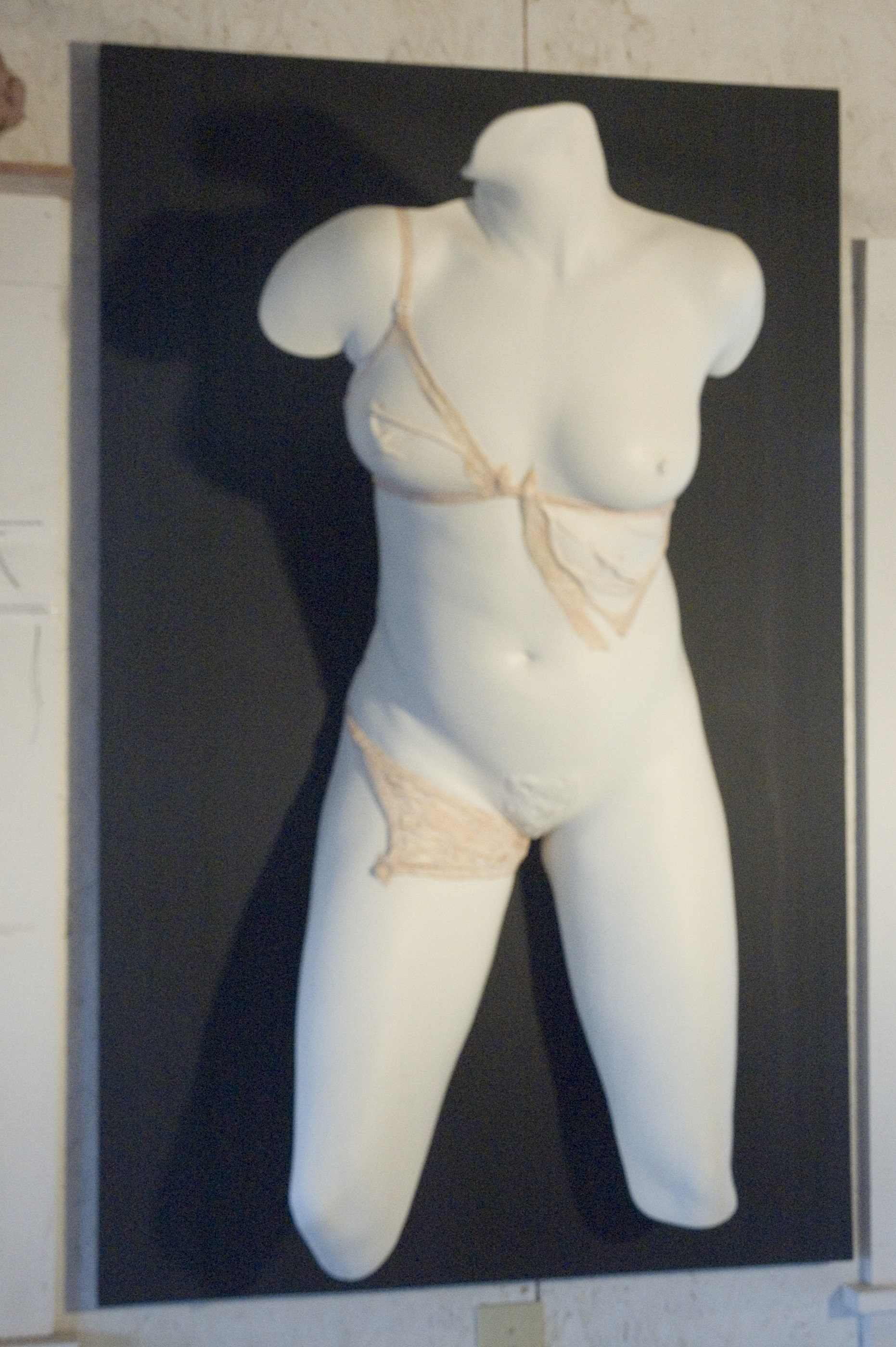 The Victim, 1993, Plaster life cast