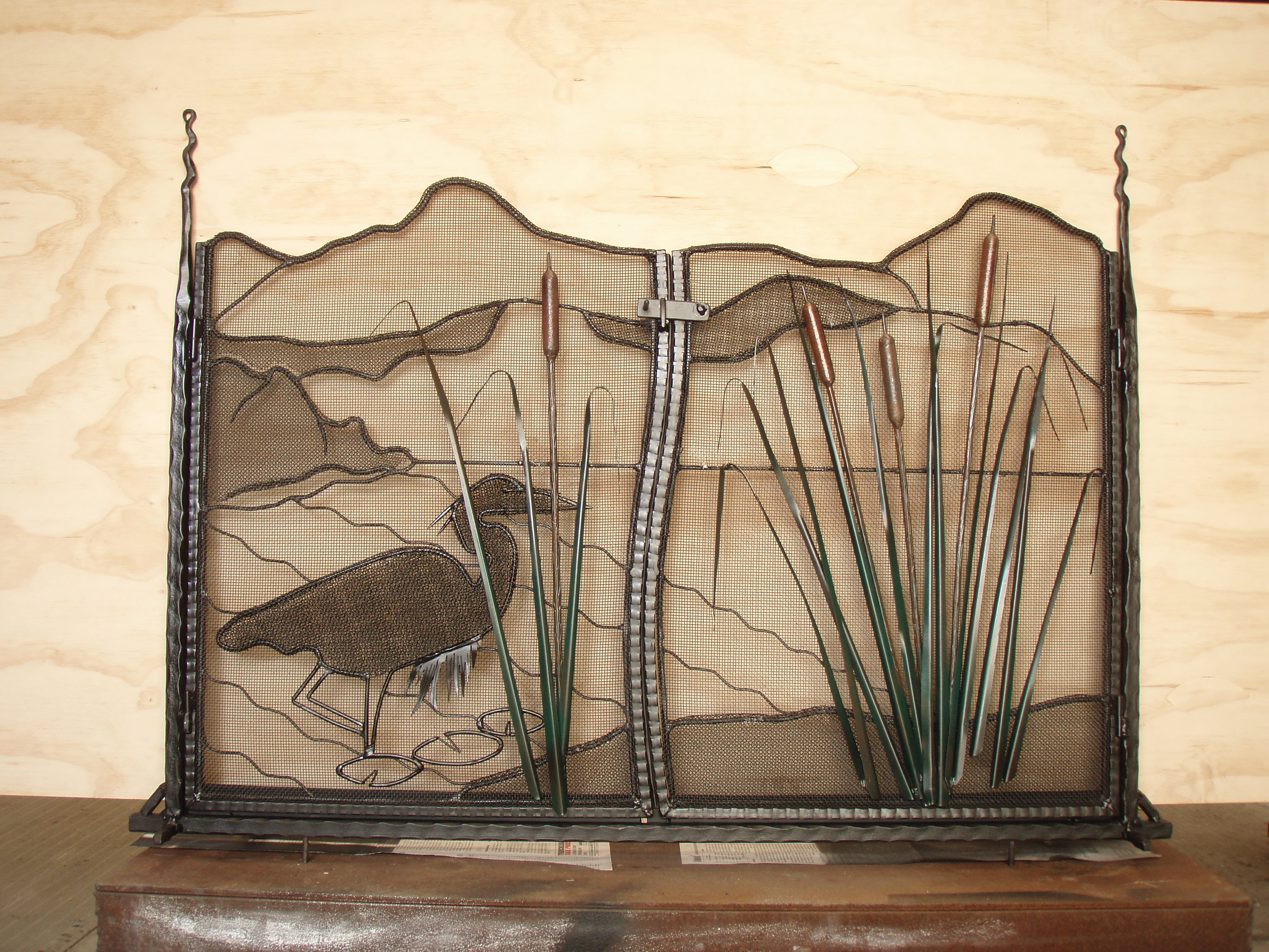 Fireplace screen 1