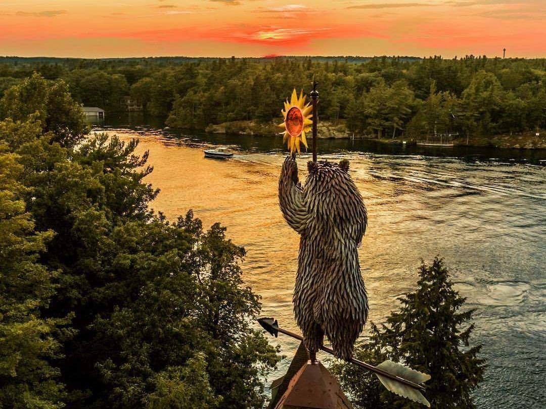 Bear Weathervane Sunset